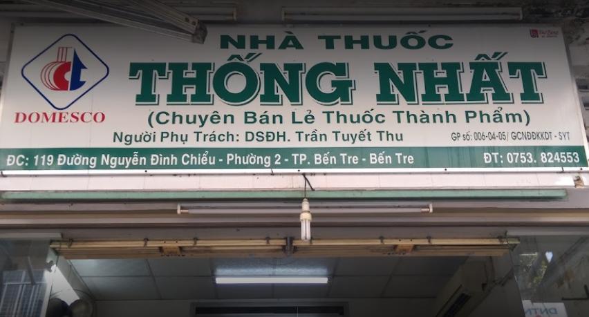Nhà thuốc Thống Nhất Bến Tre, 119 Nguyễn Đình Chiểu, Phường 1, Bến Tre