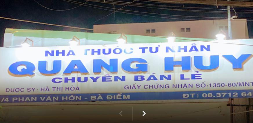 Nhà Thuốc Quang Huy, 1/4 Phan Văn Hớn, Bà Điểm, Hóc Môn
