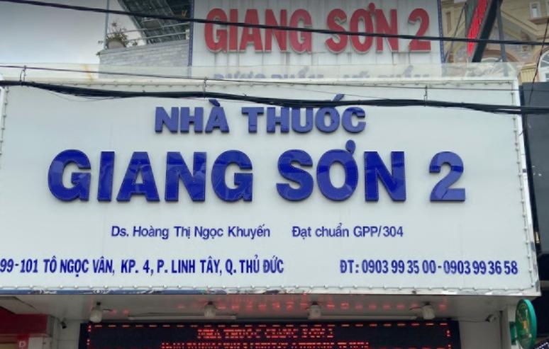 Nhà Thuốc Giang Sơn 2, 99, 101 Tô Ngọc Vân, Khu phố 2, Thủ Đức