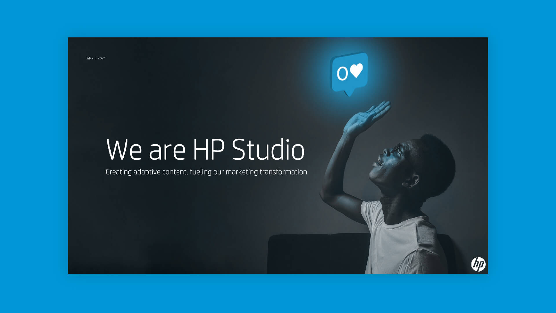 Pitch deck design for HP's 100-strong, in-house design studio