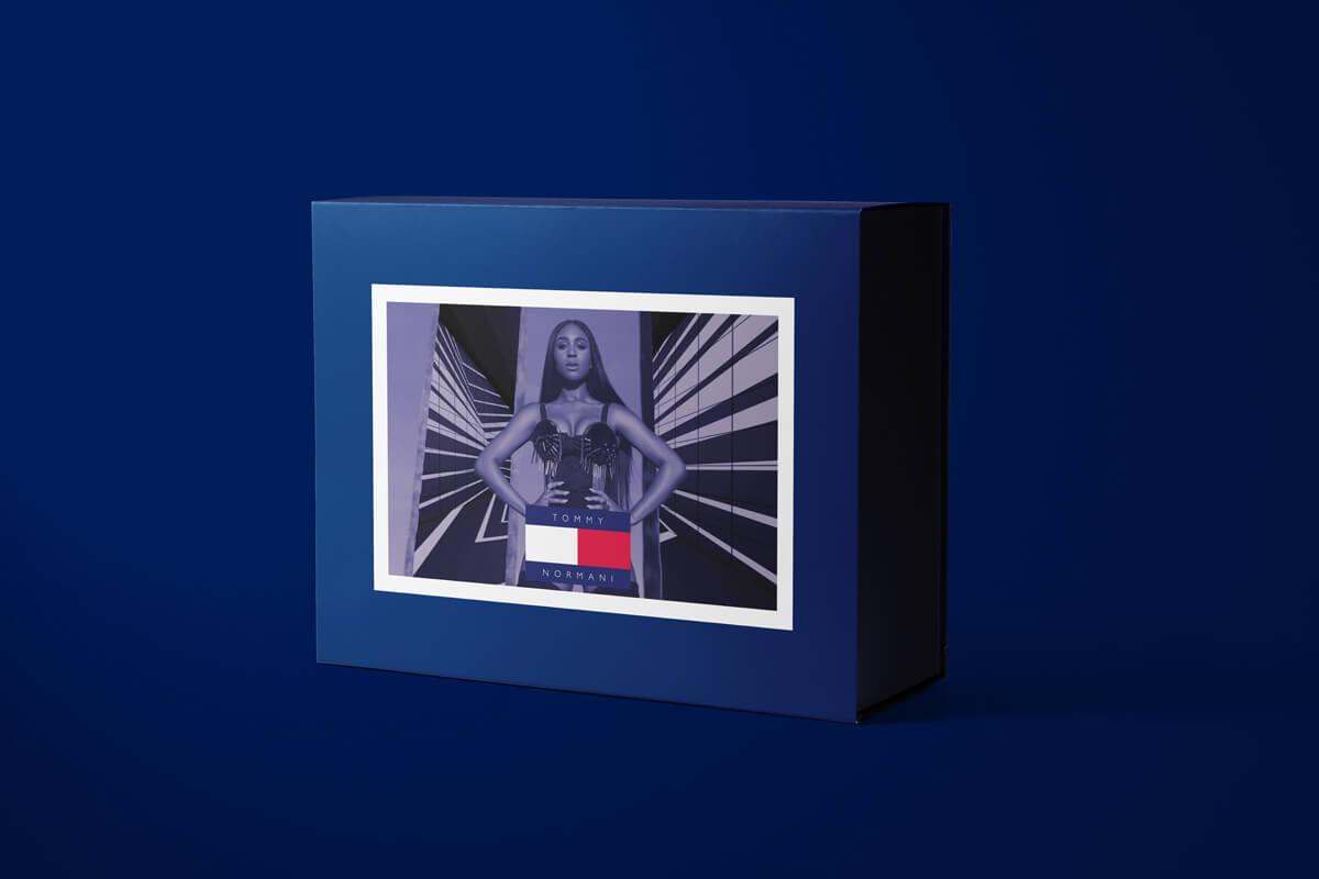 Packaging design for Tommy's #wildstylechallenge Tik Tok campaign