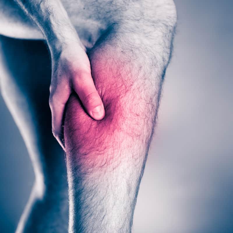 holding leg due to vein disease