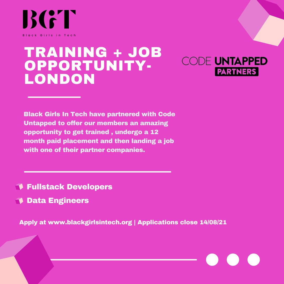 Black Girls X Code Untapped Training & Job Opportunities - LONDON