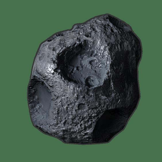 big grey asteroid
