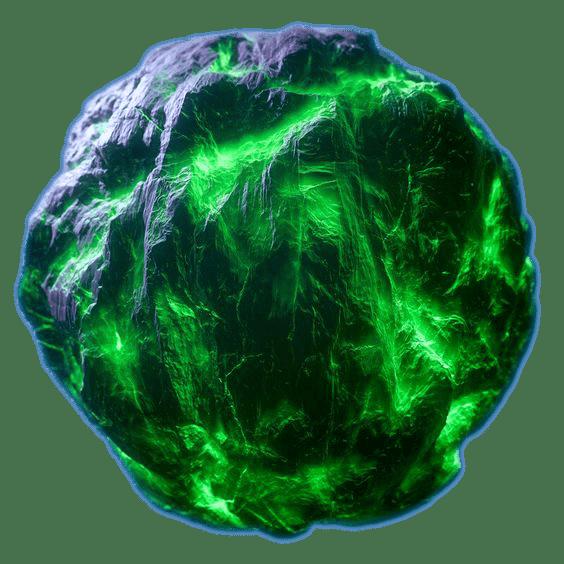 plasma green asteroid