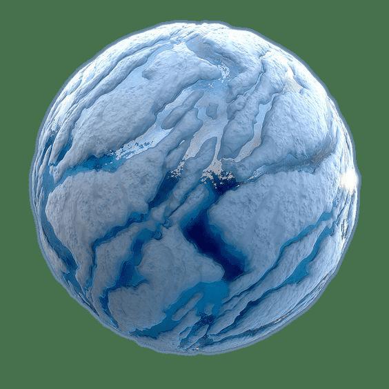 snow ball asteroid