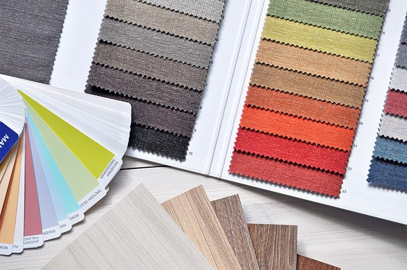 Color palette use for interior design.