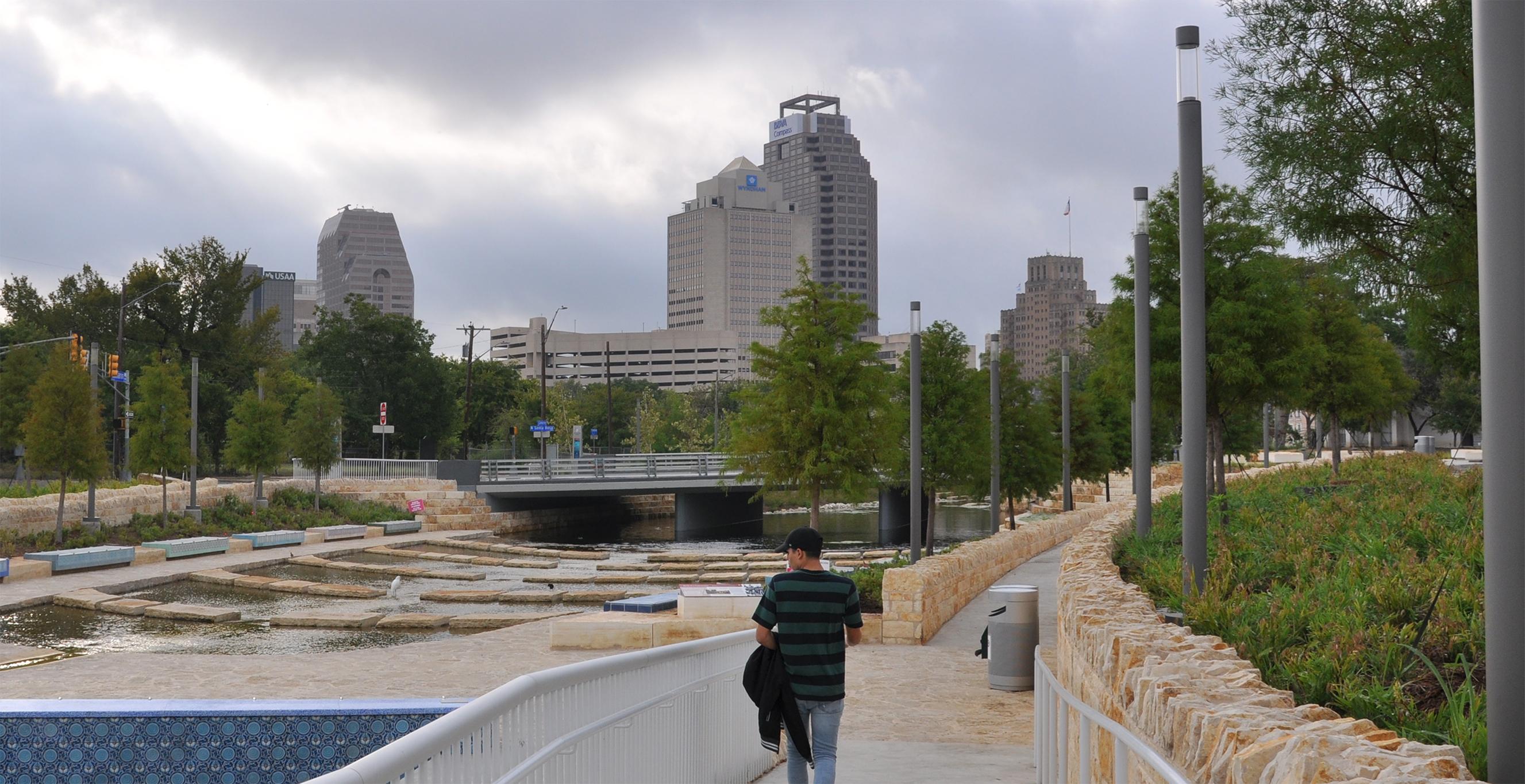 A picture of Jonathan Rodriguez/ Rodzjon/ Jon Rodz at the San Pedro Creek in San Antonio