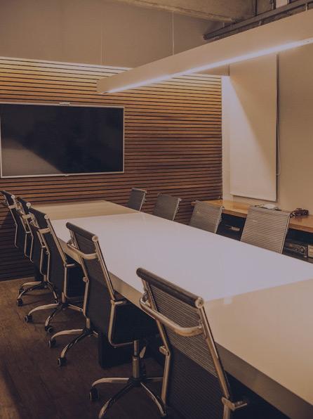 Foto da sala de reunião da hitbel
