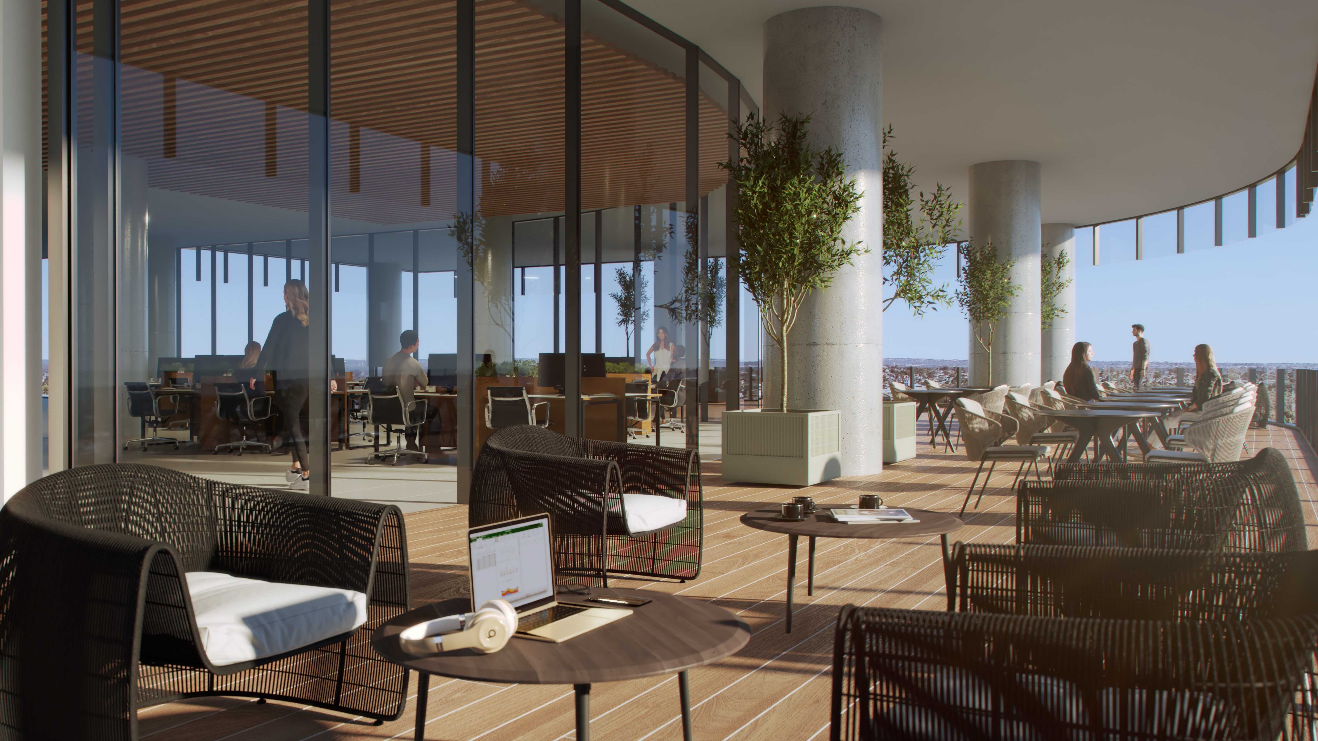 Commercial Property Amenity Render