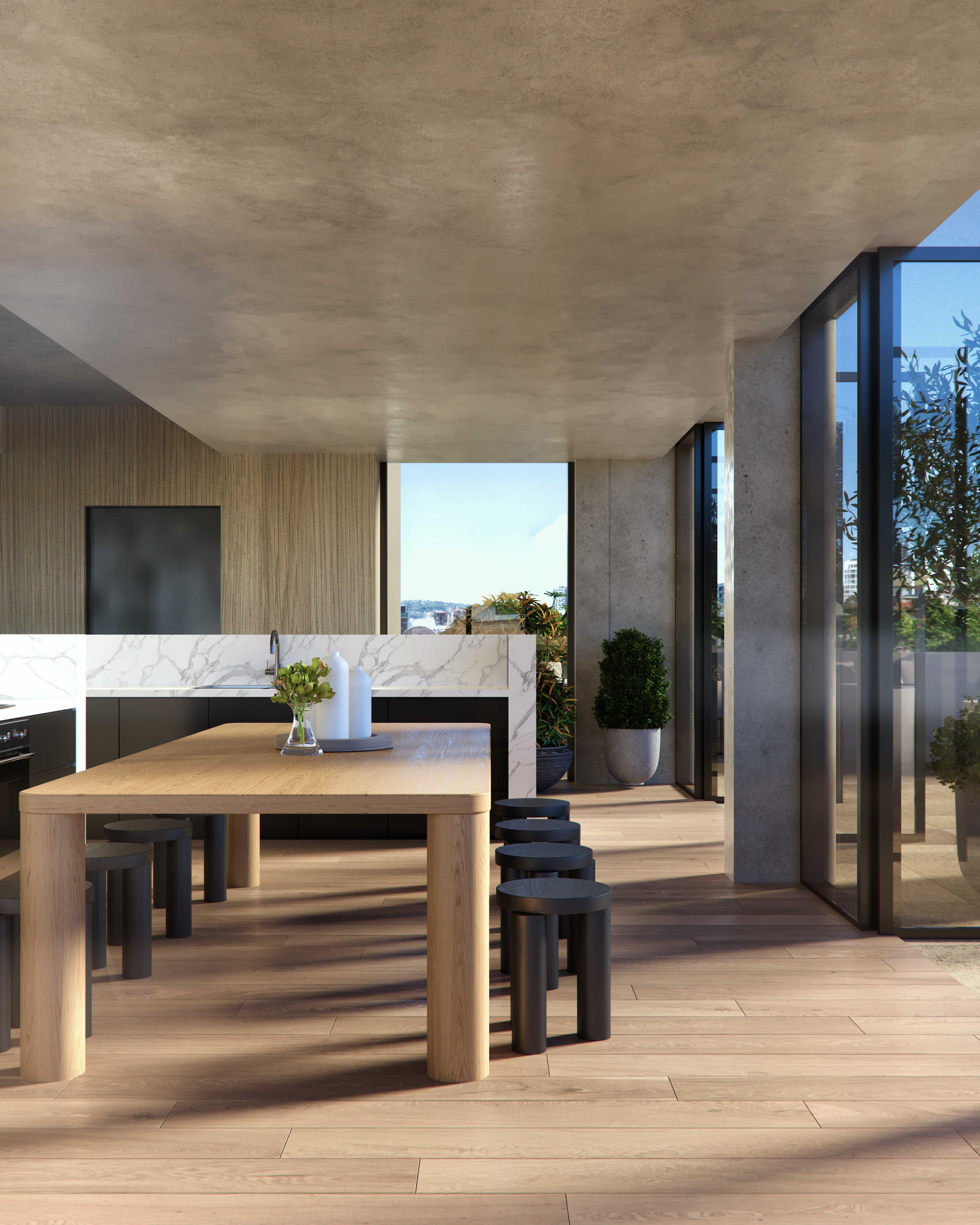 Residential Interior Render - Table