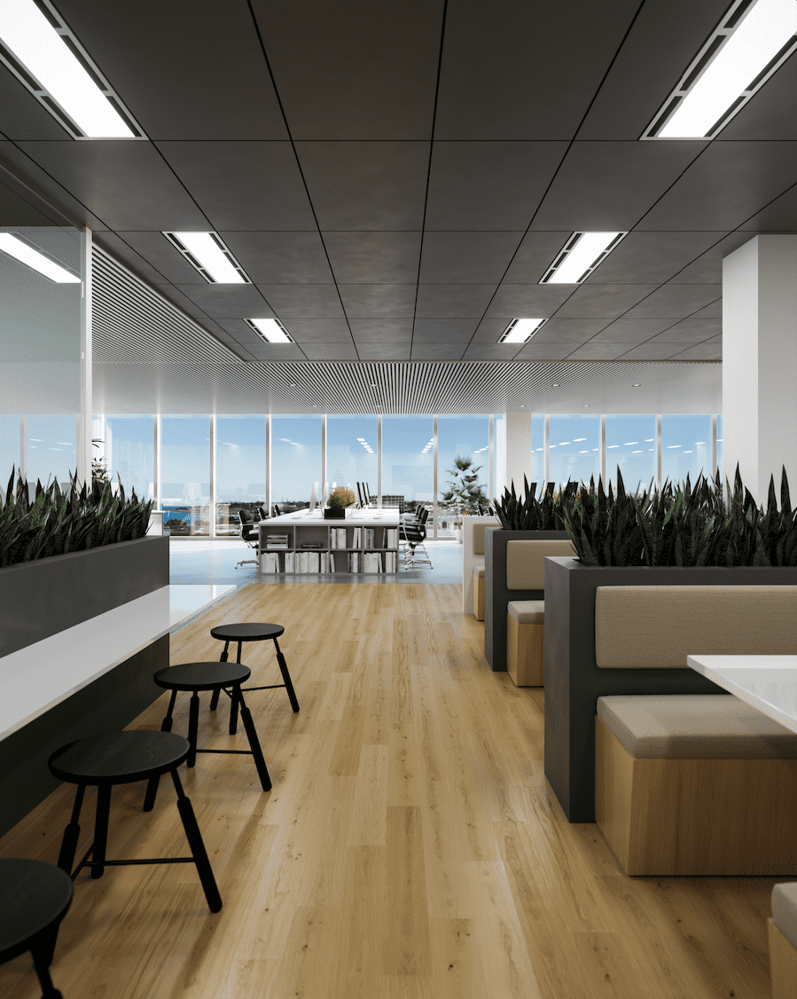 Commercial Interior Render - Booths