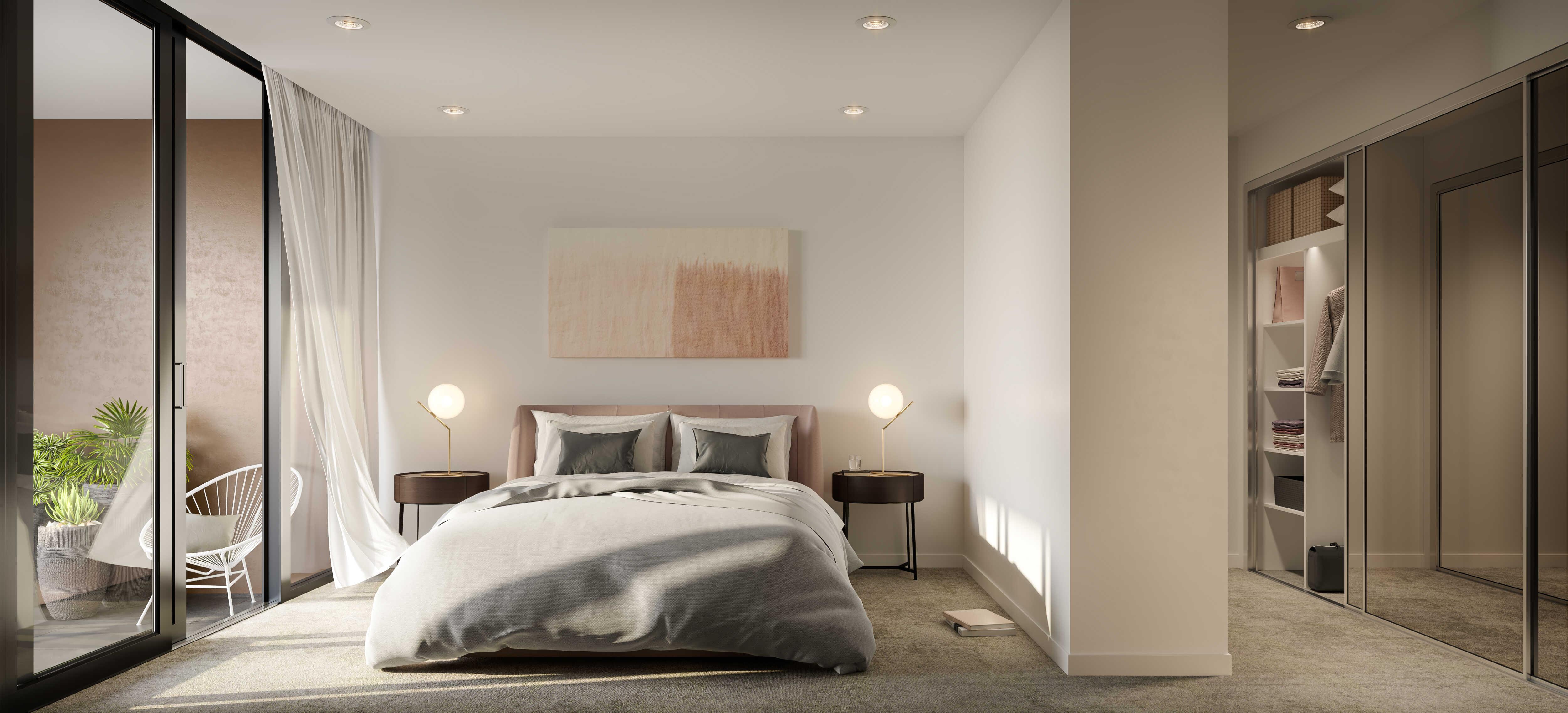 Residential Interior Render - Bedroom