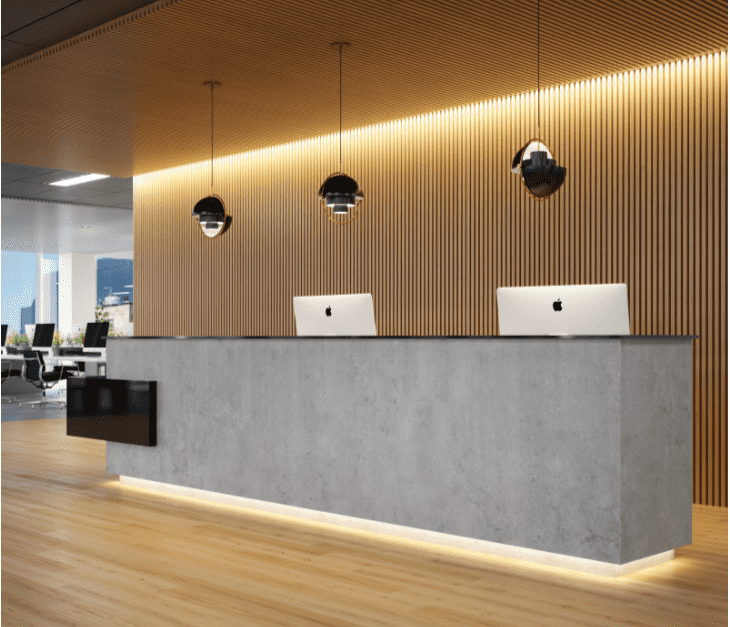 Commercial Interior Render - Reception Desk
