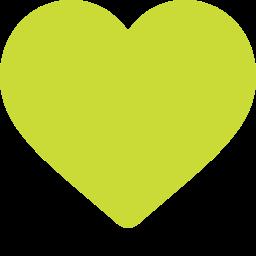 Icone coeur vert