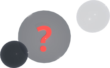 Series of dark bubbles floating with a question