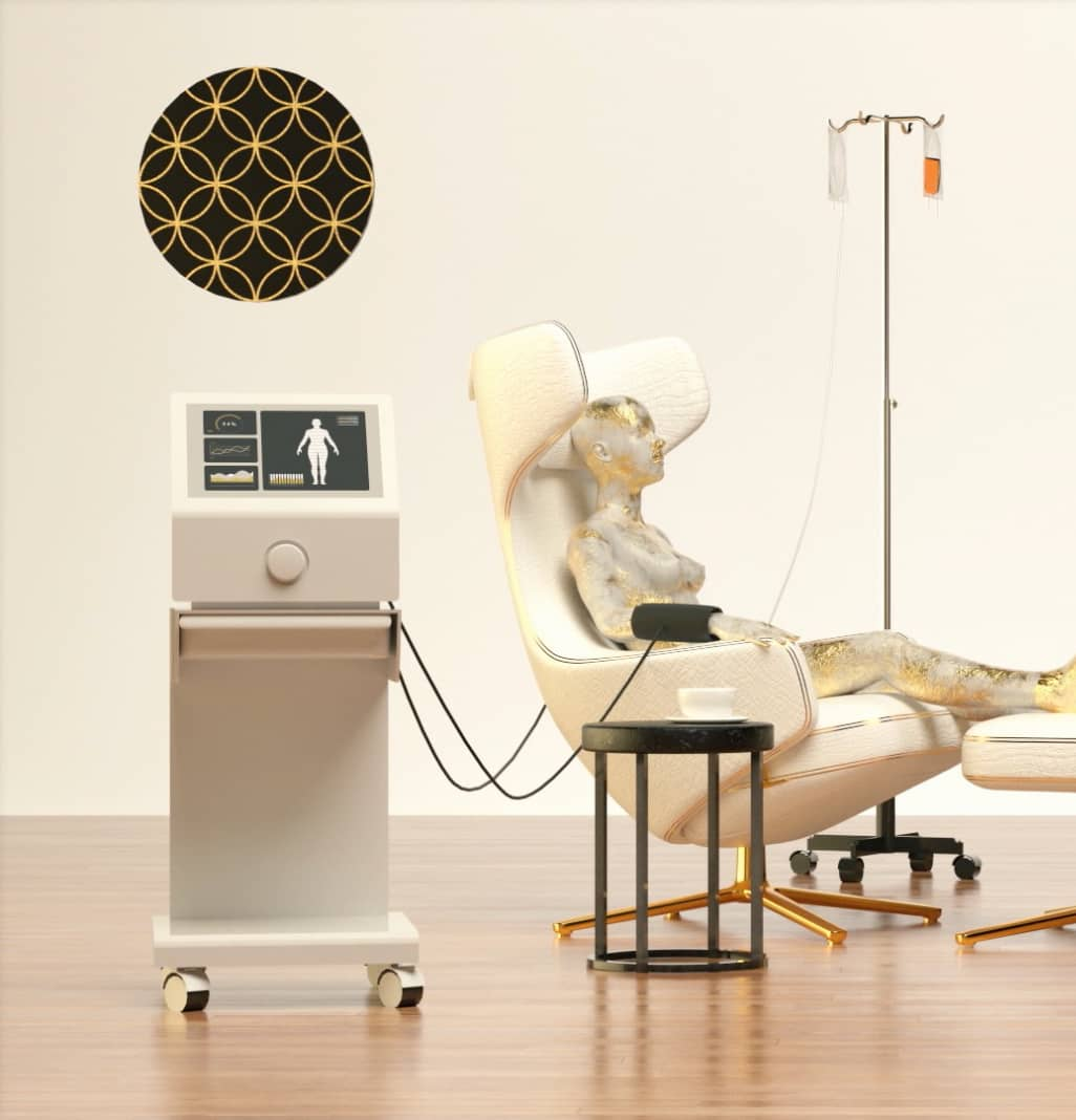 praxismarketing 3D animation stuhl infusion