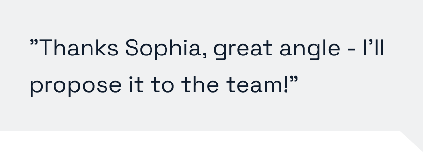 Thanks Sophia, I'll propose it to the team.