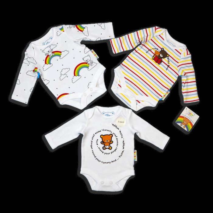 The Baby Club babywear 3 pack of bodysuits