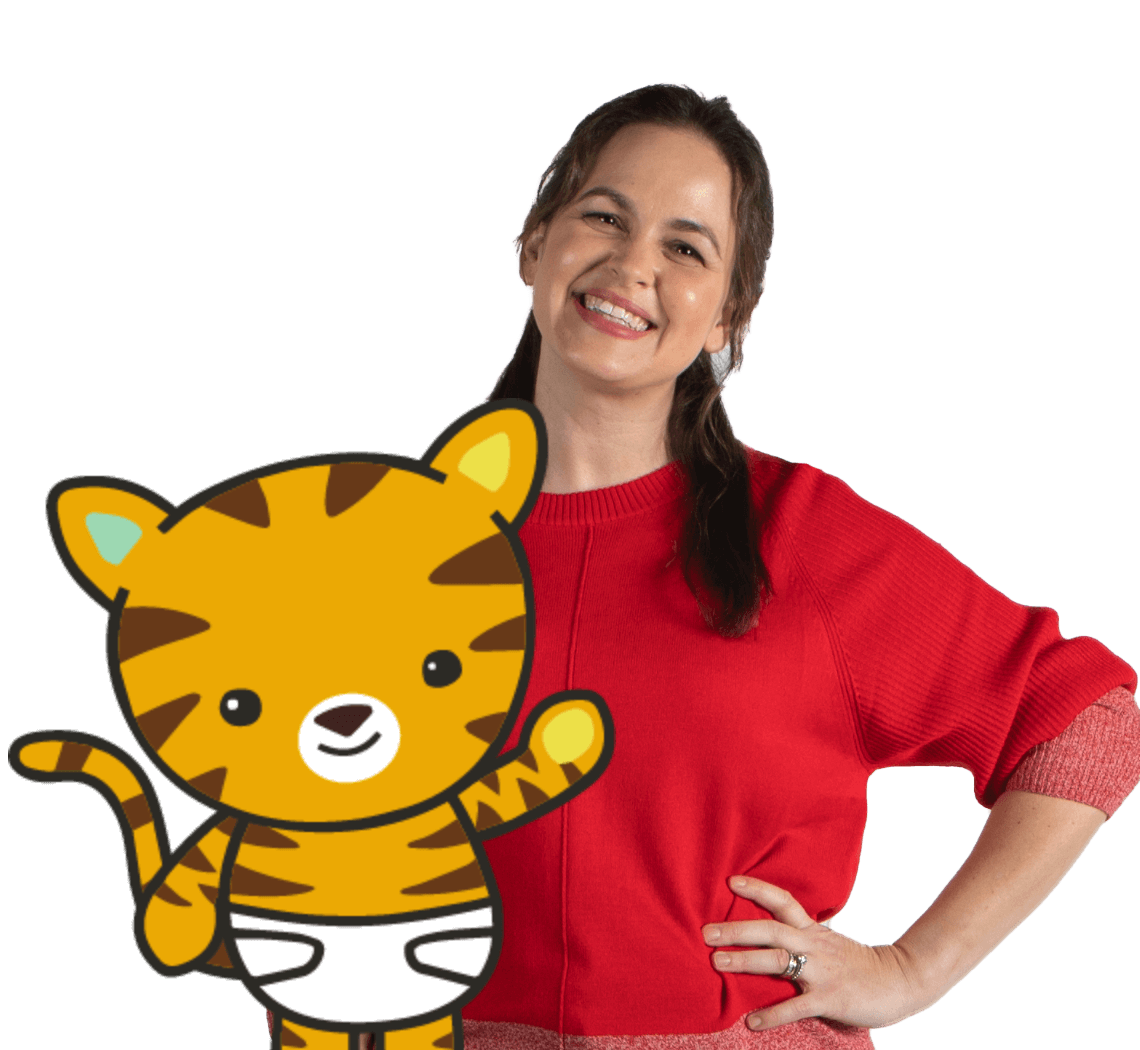 Giovana and Baby Tiger