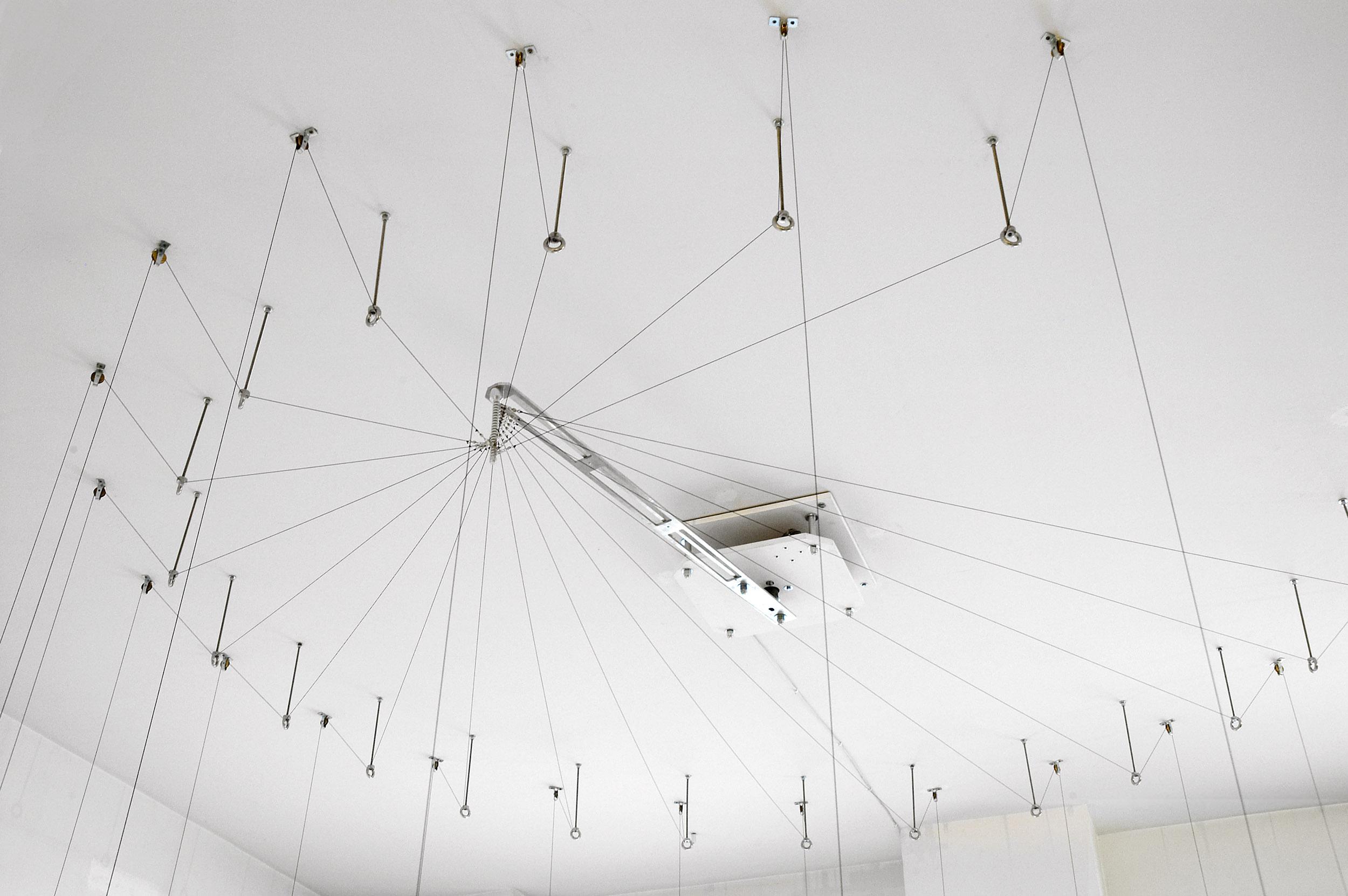 A ceiling detail of Panta Rei at Nilufar gallery Milan