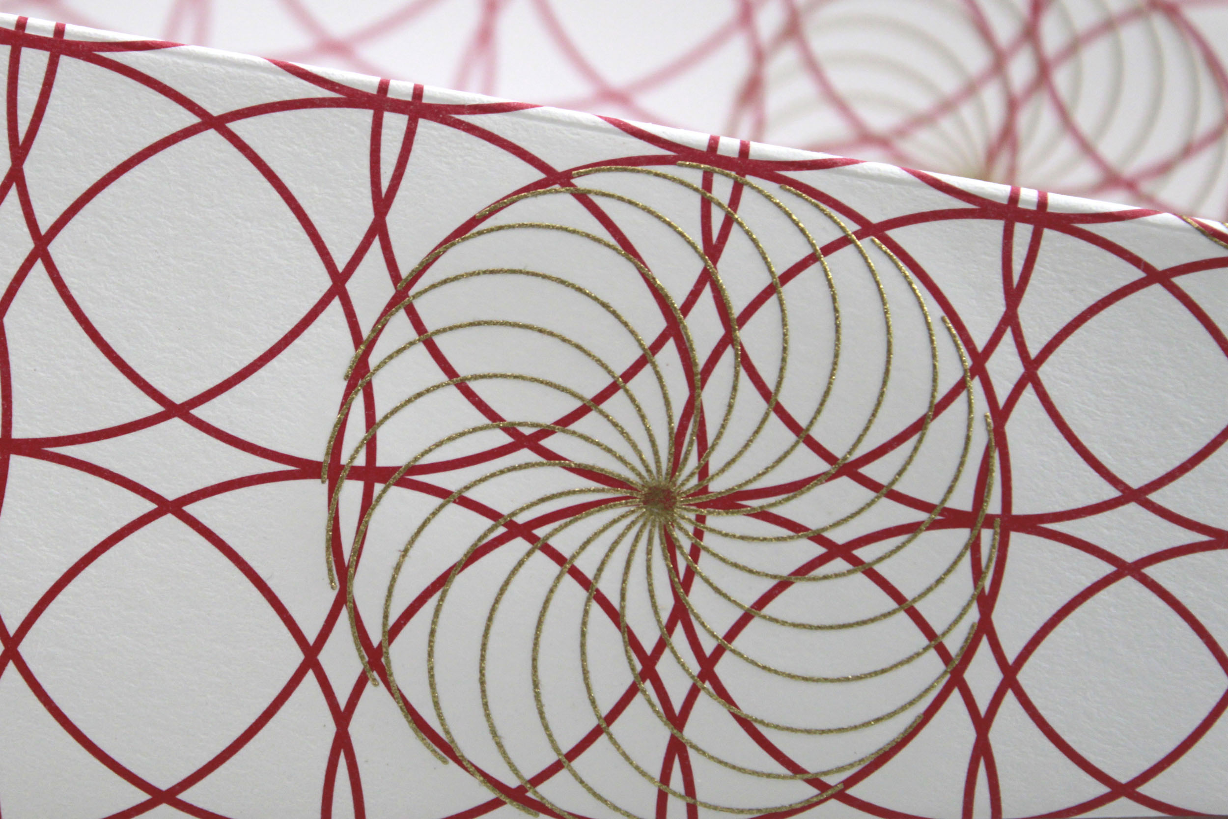 A detail of a Paper Plane showing circle design