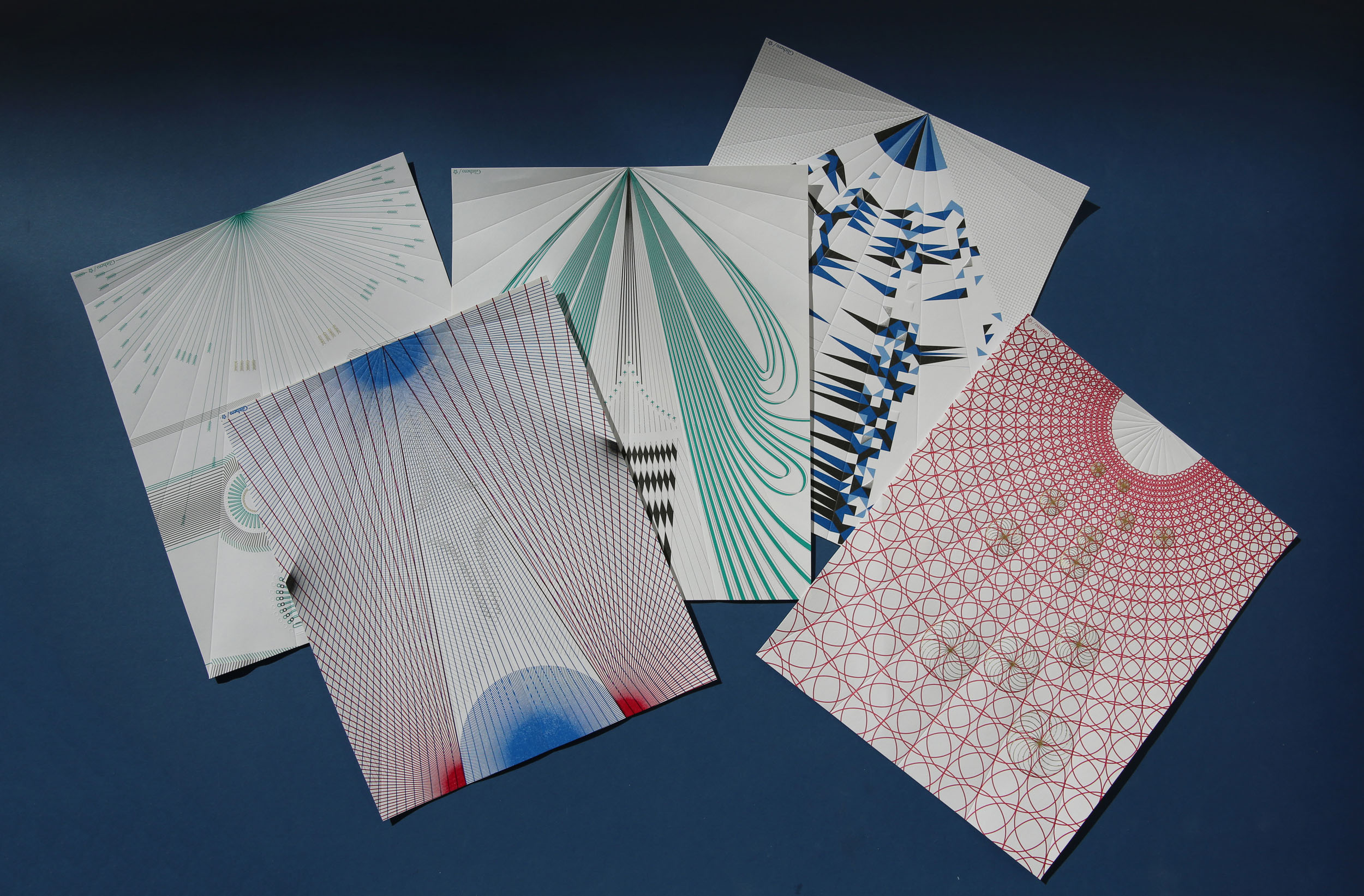 A set of unfolded Paper Planes