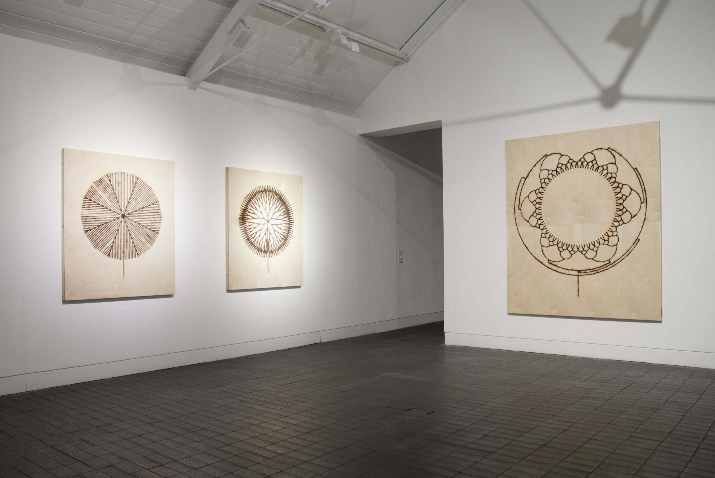 3 Fire Drawings on display at the Jerwood gallery