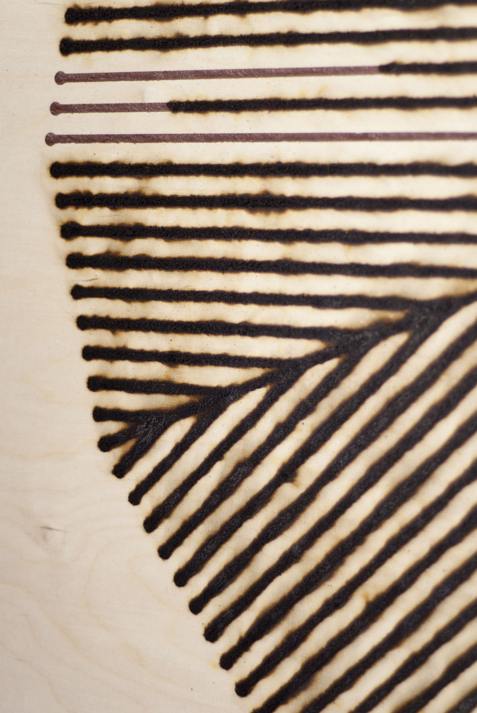 A detail of Fire Drawings showing burnt pathways