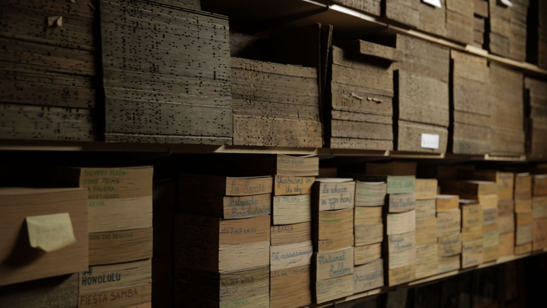 A archive of organ music books