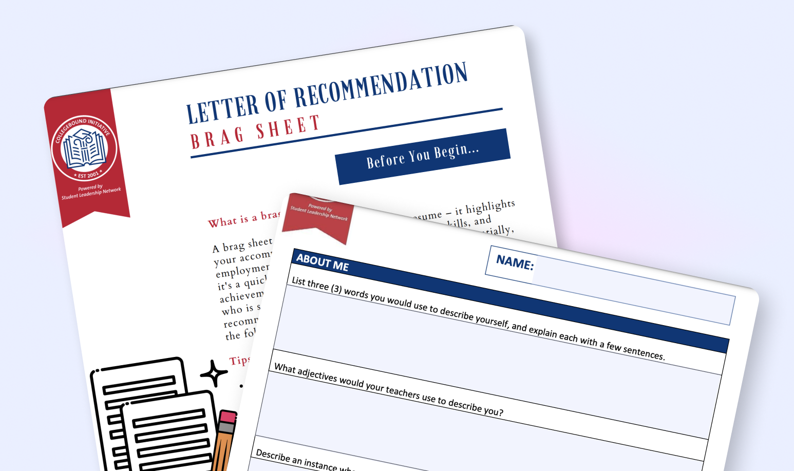 """Include a """"brag sheet"""" when you make your request for a letter of recommendation to ensure all incoming documents are aligned and highlight your strong suits. Plus this greatly helps educators & might increase the speed of getting your recommendation."""