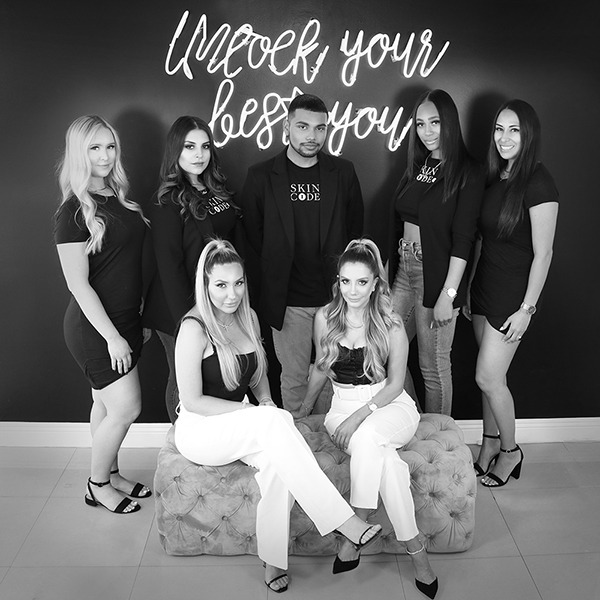 The Skin Code LA team - nurses, front desk staff, and owners