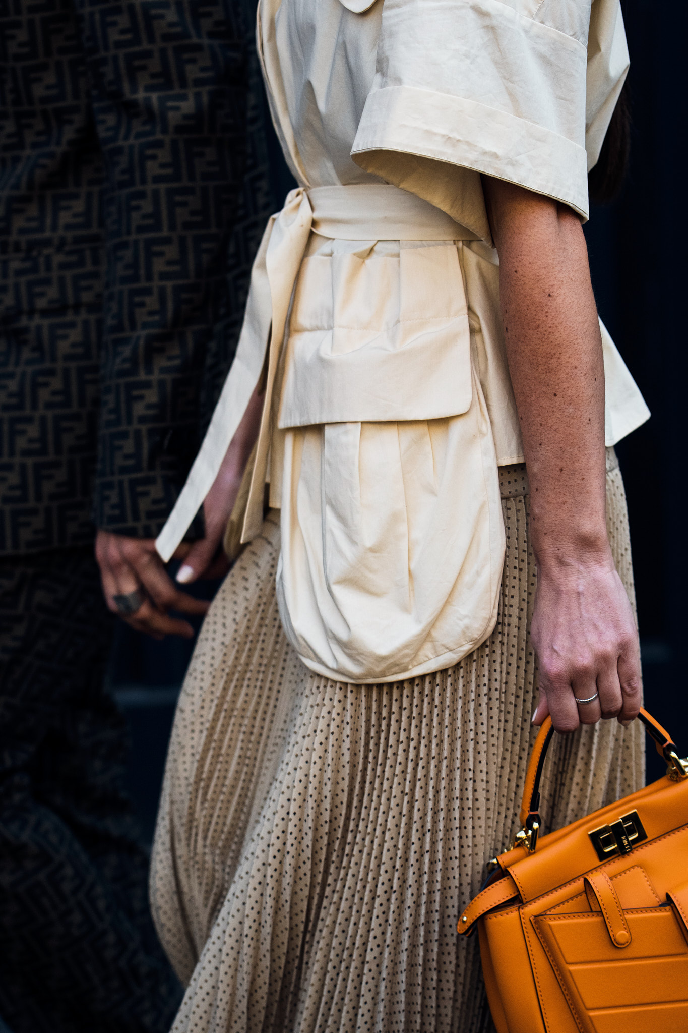 Alice Barbier and js Roques - Outside Fendi - Milan Fashion Week FW19