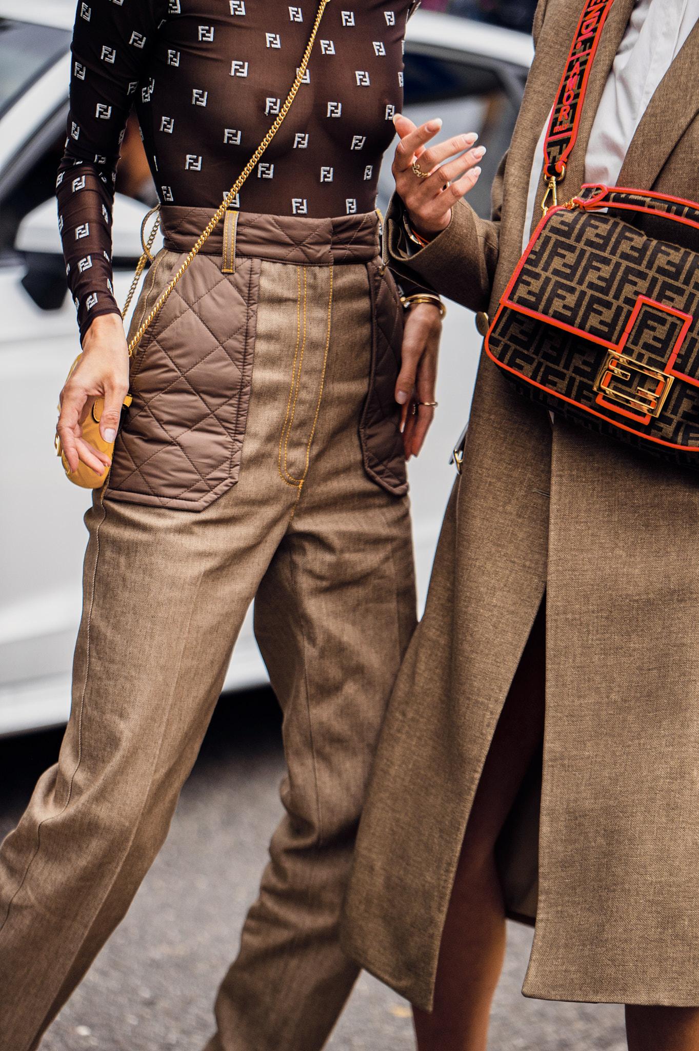 Leonie Hanne and Nina Suess - Outside Fendi - Milan Fashion Week SS20