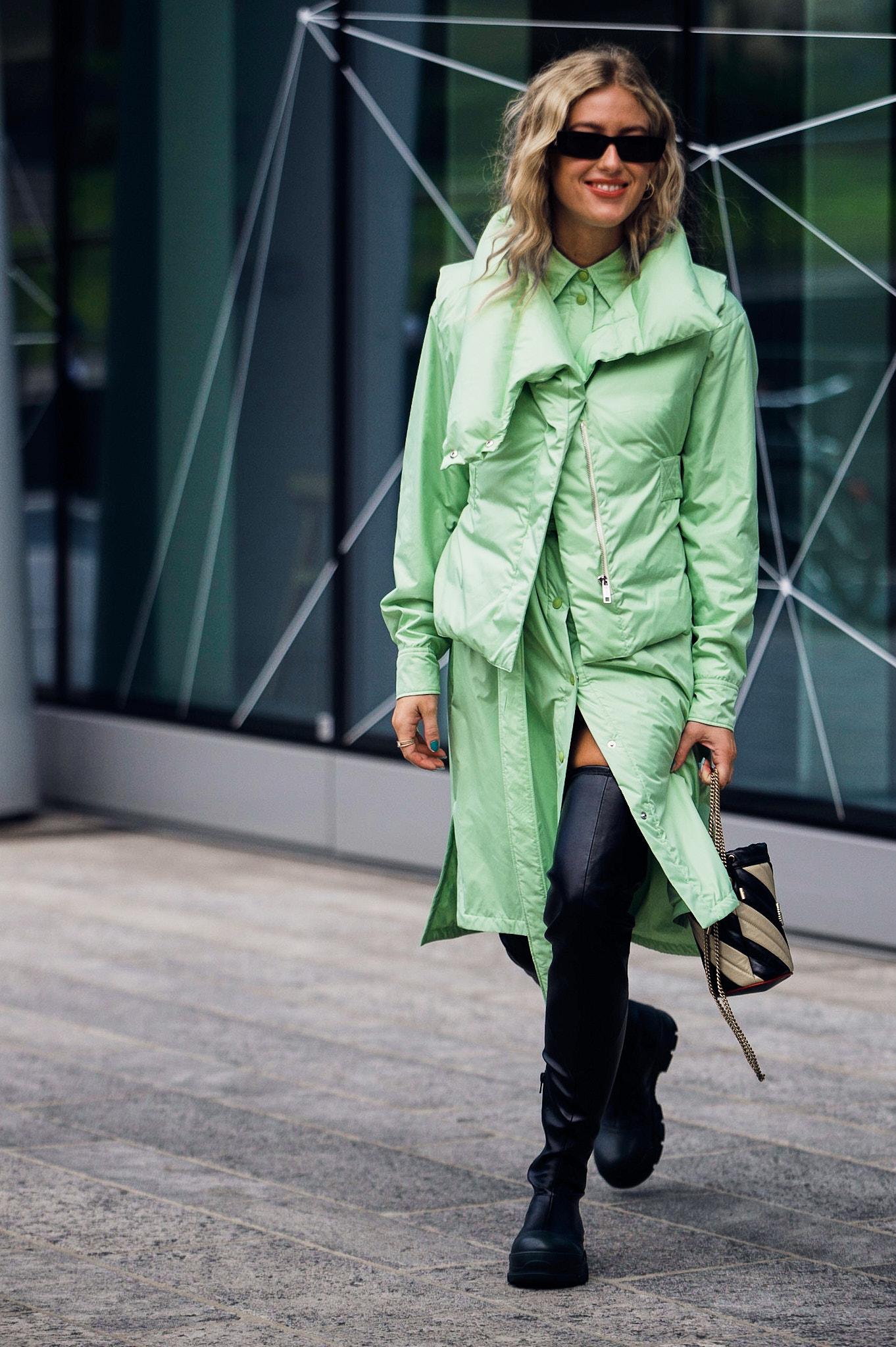 Emili Sindlev - Outside Sportmax- Milan Fashion Week SS20