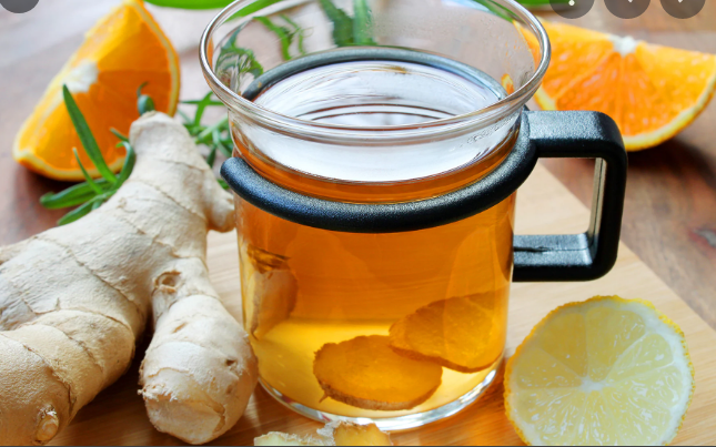 What are the health benefits of ginger honey tea?