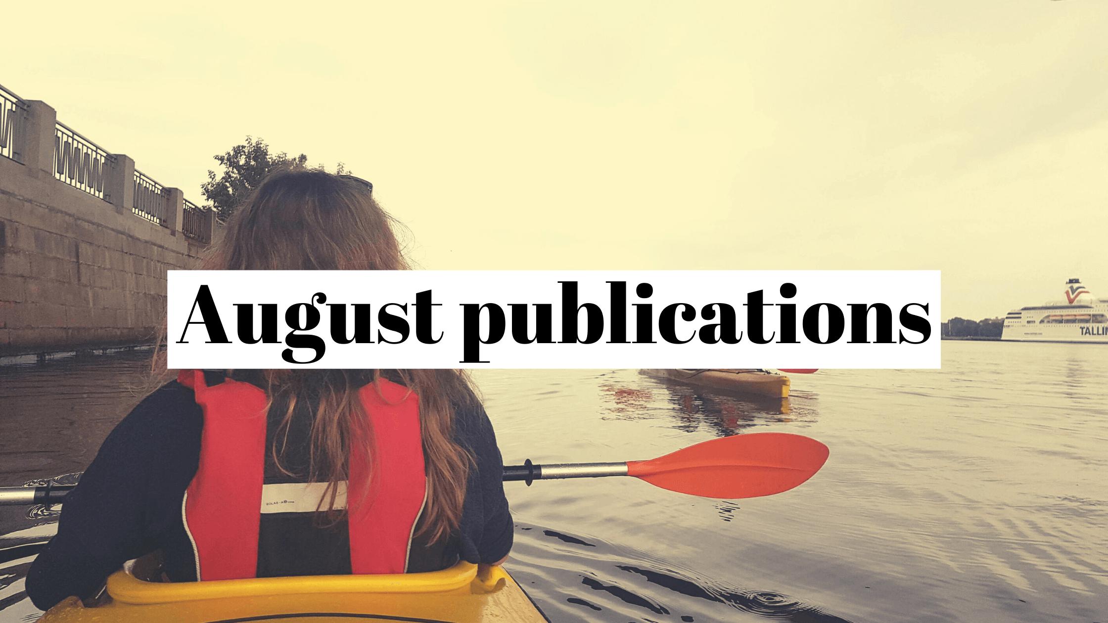 Farewell to summer: August 2020 publicity recap