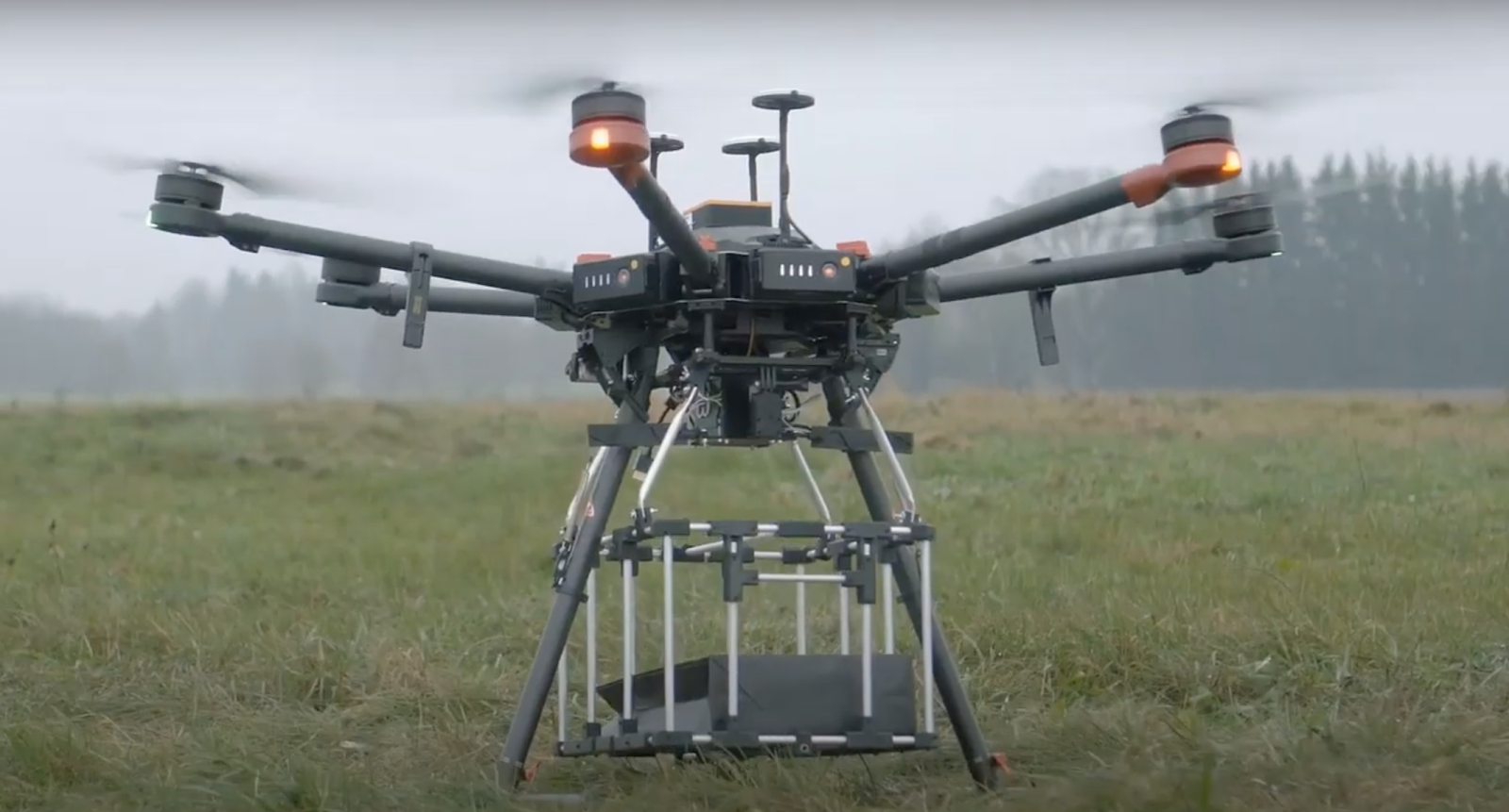 drone delivering a parcel