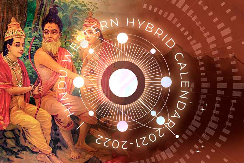Poster to show the concept behind Hindu-Western Calendar project of Prachyam