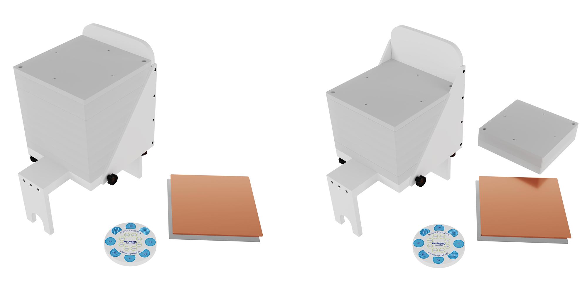 Pro-RF FluoCDRH Under-table set up
