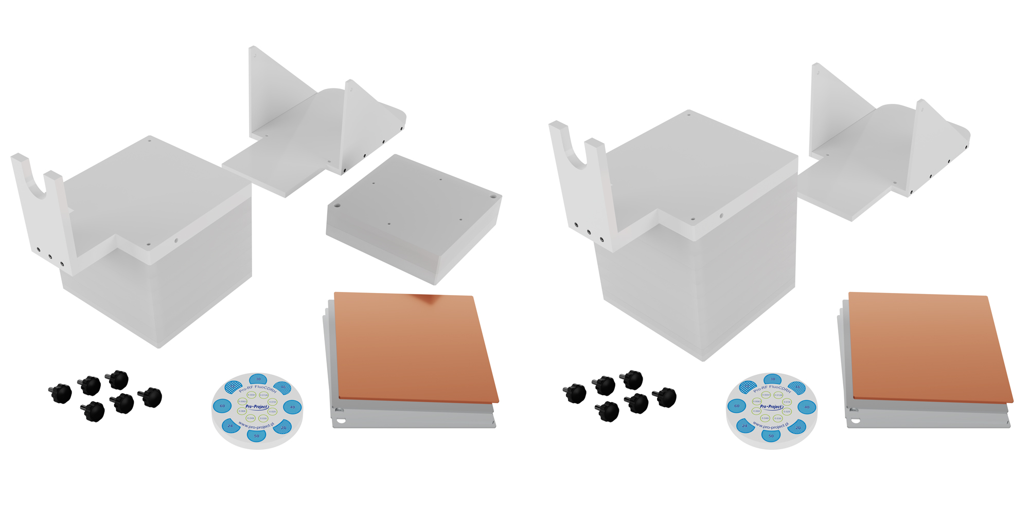 Pro-RF FluoCDRH Over-table set up