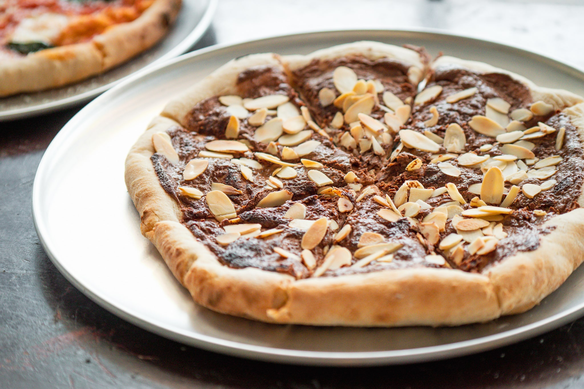 Nutella Almond Pizza