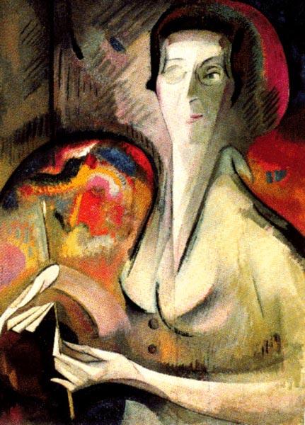autoportrait d'Alice Bailly