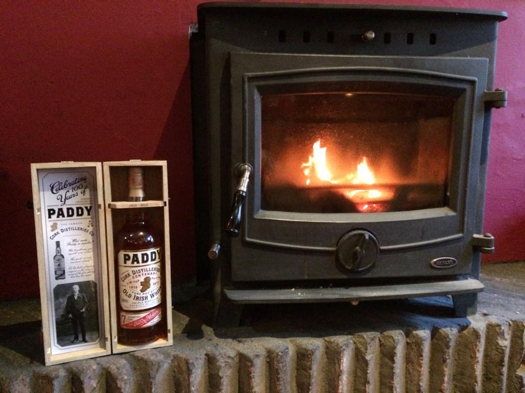 Fireplace at Kennys Bar
