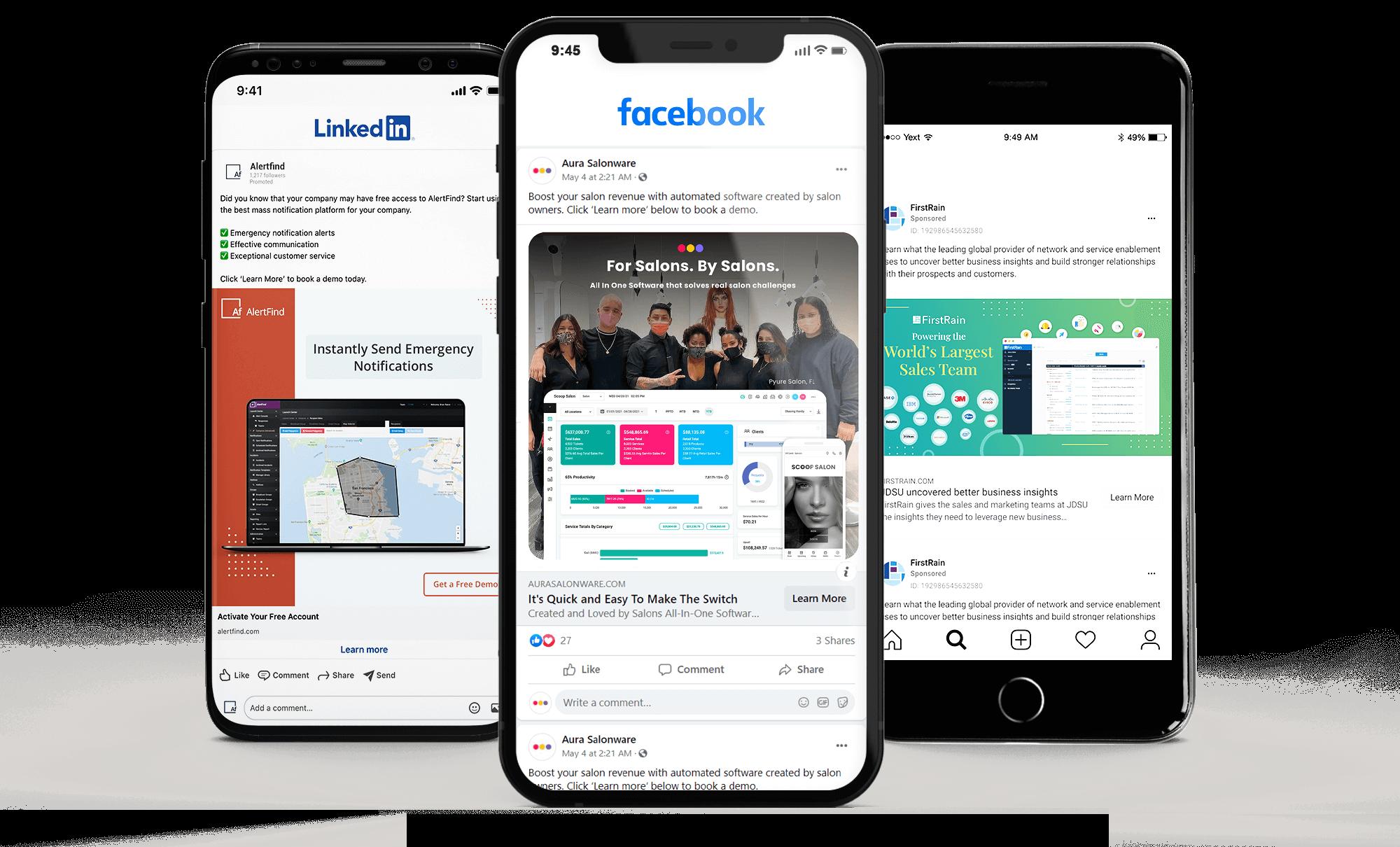 SaaS Social Media Ads