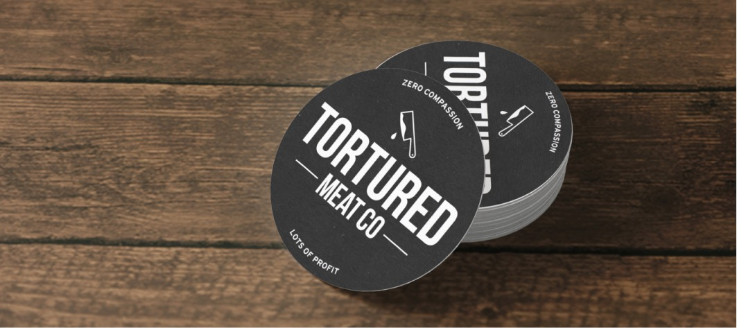 Faux stickers for Tortured Meat Co.