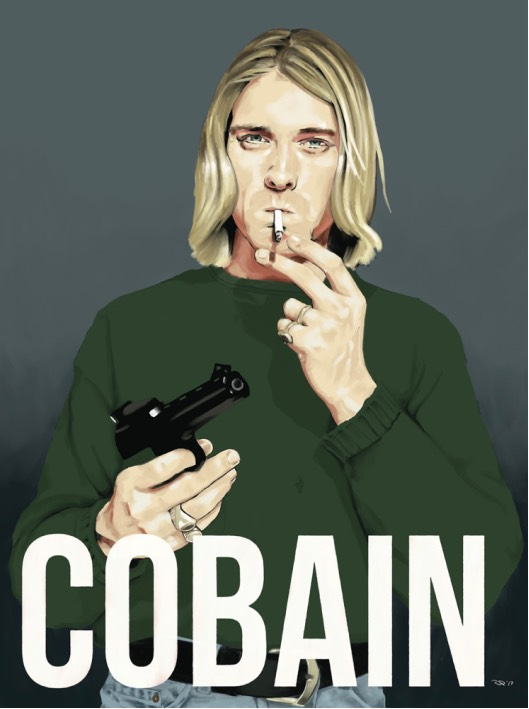 Illustration of Kurt Cobain