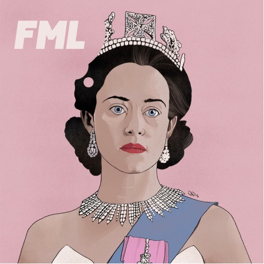 Illustration of Claire Foy as the Queen