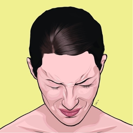 Human face illustration
