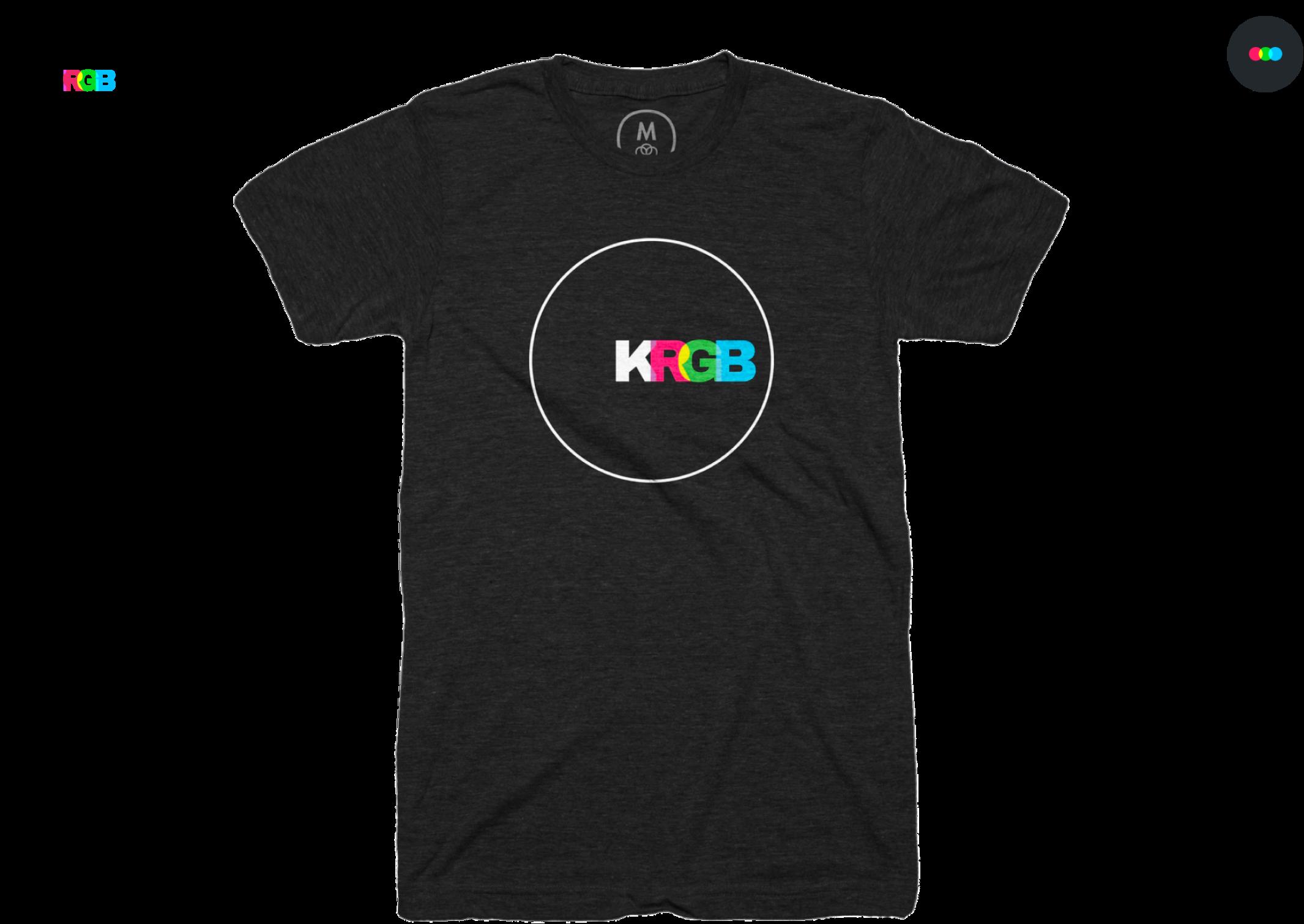 KRGB logo, t-shirt with KRGB logo on it, and KRGB avatar
